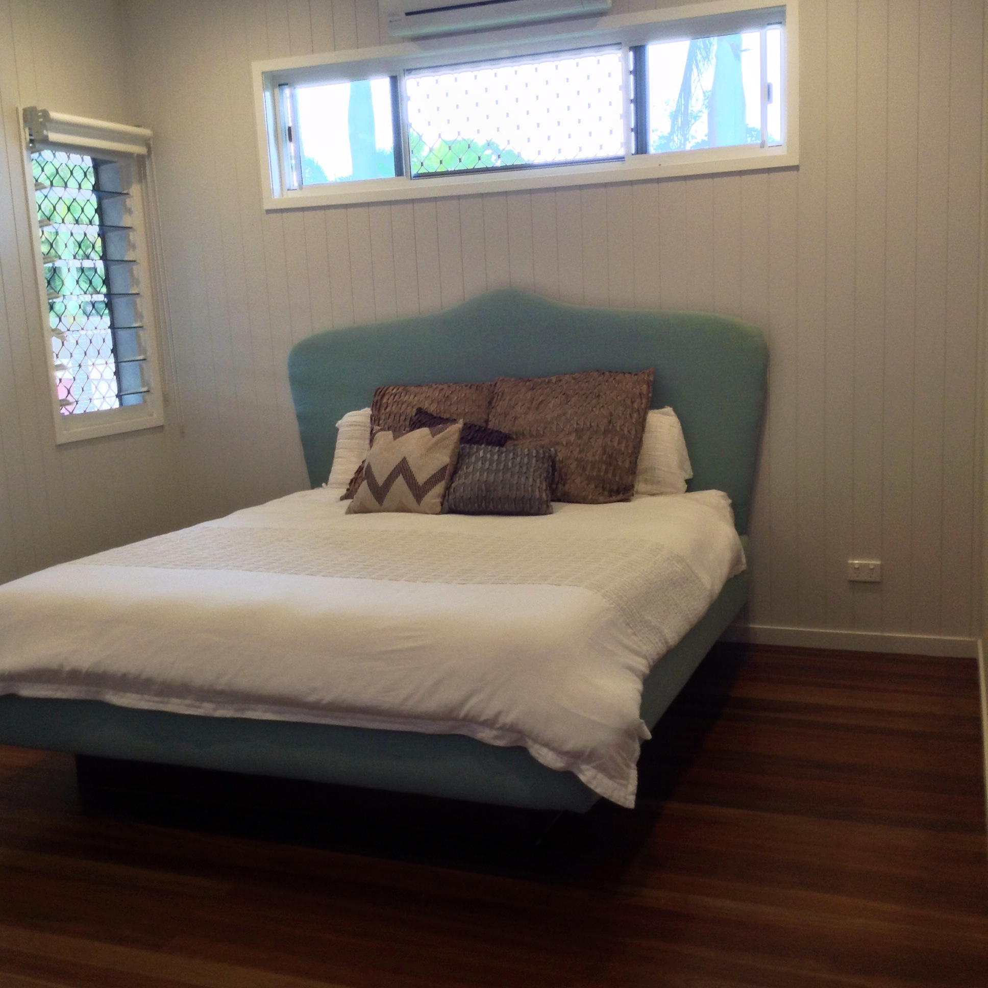 custom built upholstered bed