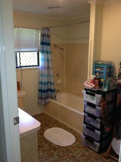 Large bathroom before...