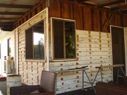 Old cladding & windows
