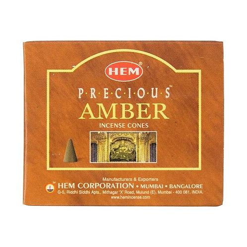 HEM Amber Cones 1 box (10 cones)