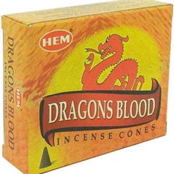 HEM Dragons Blood Cones 1 box (10 cones)