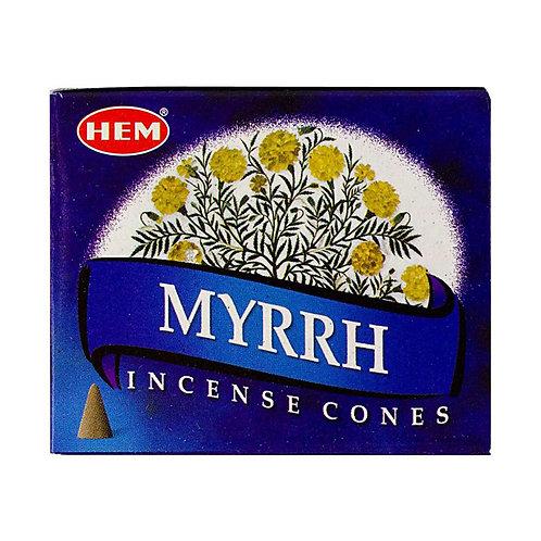 HEM Myrrh Cones 1 box (10 cones)
