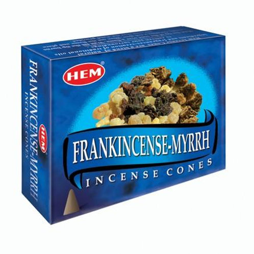 HEM Frankincense-Myrrh Cones 1 box (10 cones)