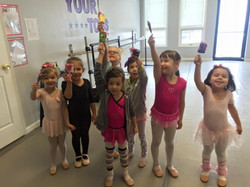 Our little Valentine's Day dancers