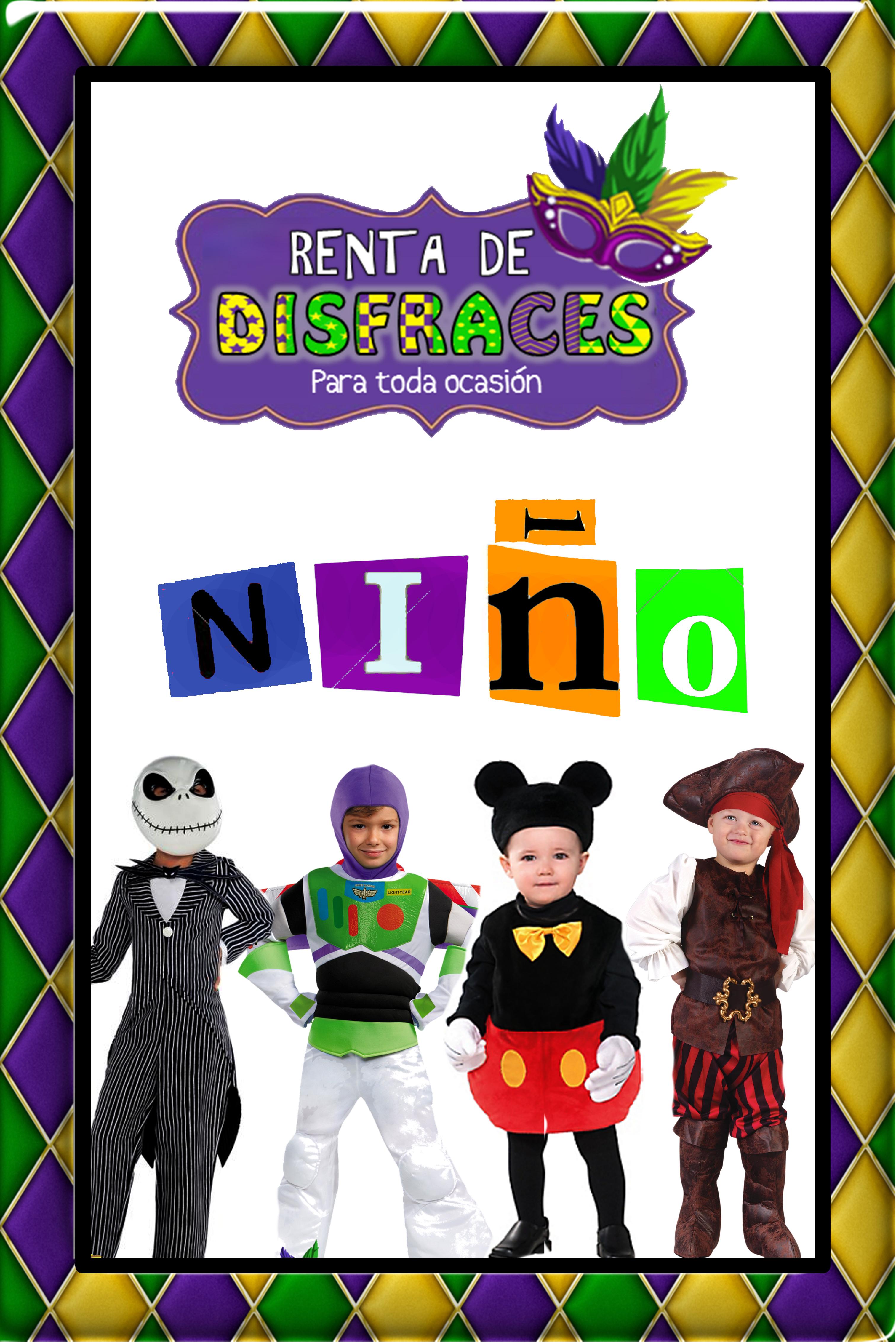 RENTA DE DISFRACES PARA NIÑO