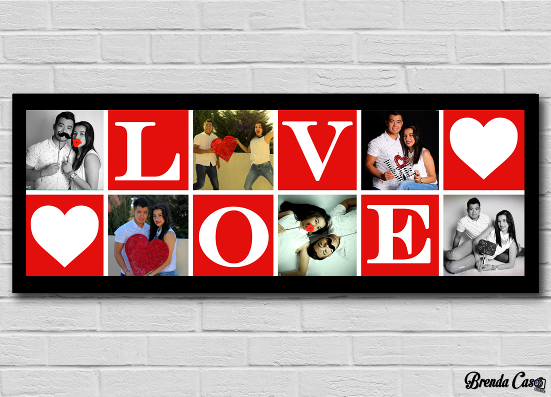 LOVE ROJO 60X20