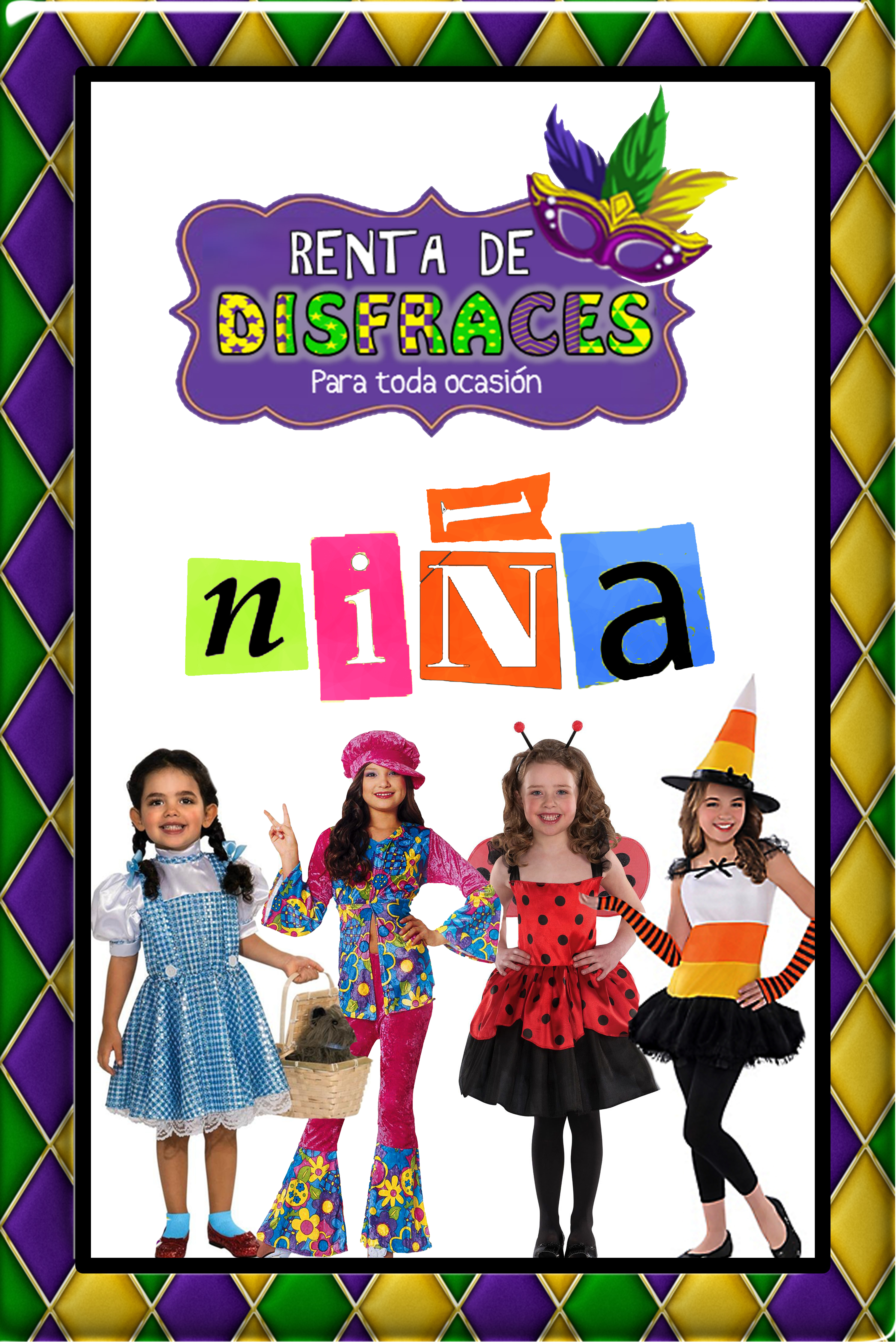 RENTA DE DISFRACES PARA NIÑA