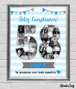 CUMPLEAÑOS HOMBRE 40X50
