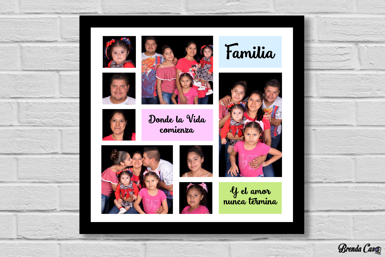 FAMILIA DONDE LA VIDA 50X50