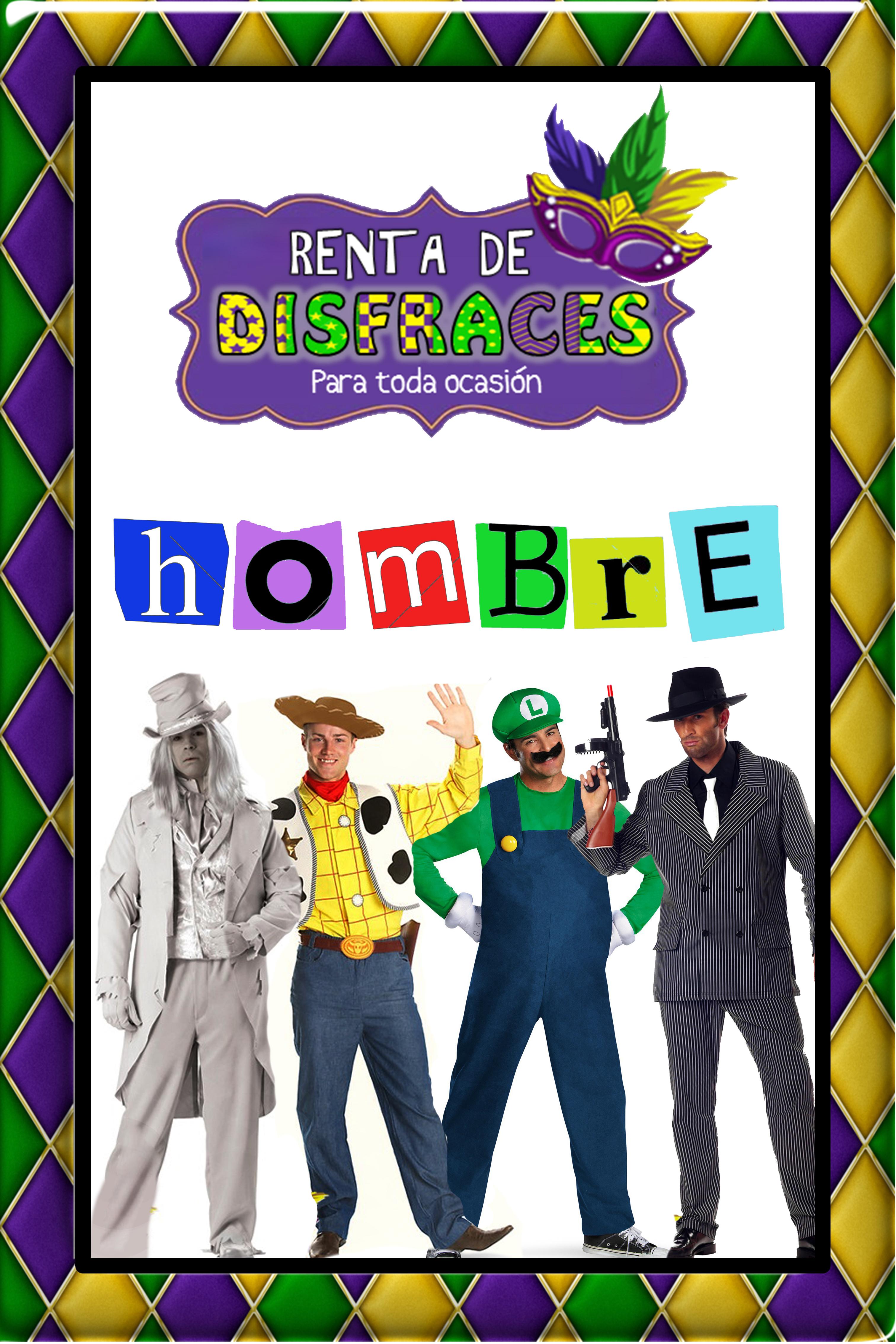 RENTA DE DISFRACES PARA HOMBRE