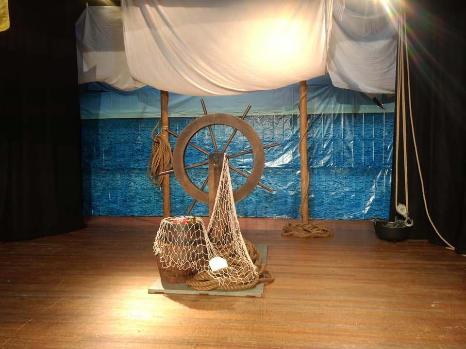 Ship's wheel previously used at Loughton Methodist Church for Messy Pirates Holiday Club 2018