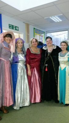 Teachers and some of the pupils were dressed in Tudor costumes