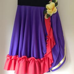 Dance skirt with folk influence.