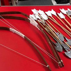Bows and arrows for Robin Hood