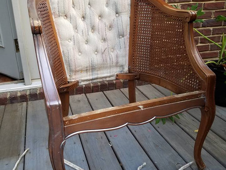 Holly's Hollywood Regency Chair Makeover