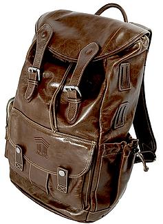 Rucksack Dark Chocolate Milan leather.pn