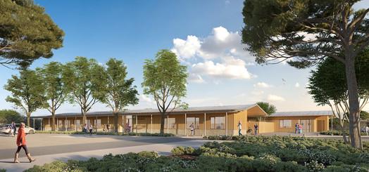 Centre social et centre d'entretien des routes à Loupian