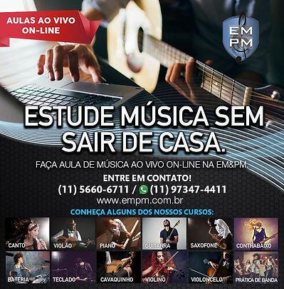 Aulas de Música Ao Vivo Online - EMPM Escola de Música (Curso, Aulas, Professor, Professora, Aprenda)