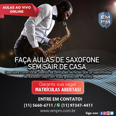 Curso de Saxofone - Ao Vivo Online