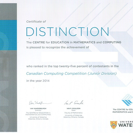 Canadian Computing Competition