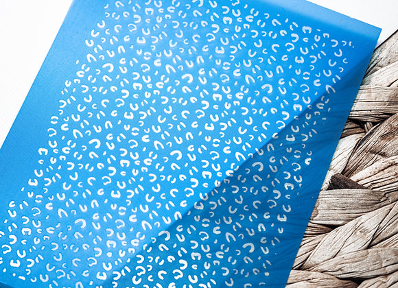 Mini Silkscreen Cheetah Stencil