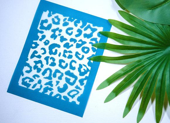 Mini Silkscreen Reverse Leopard Stencil