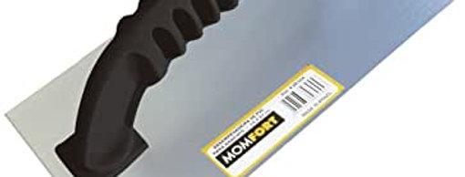 Desempenadeira de Aço Lisa c/ Cabo Plástico - Momfort