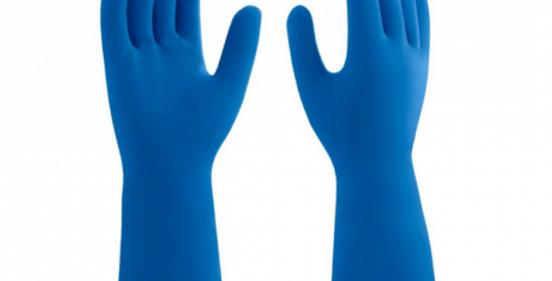 Luva Mucambo Látex Multiuso Azul - Par