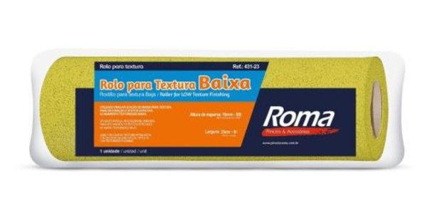 Rolo Textura Baixa Roma - Largura 23 cm