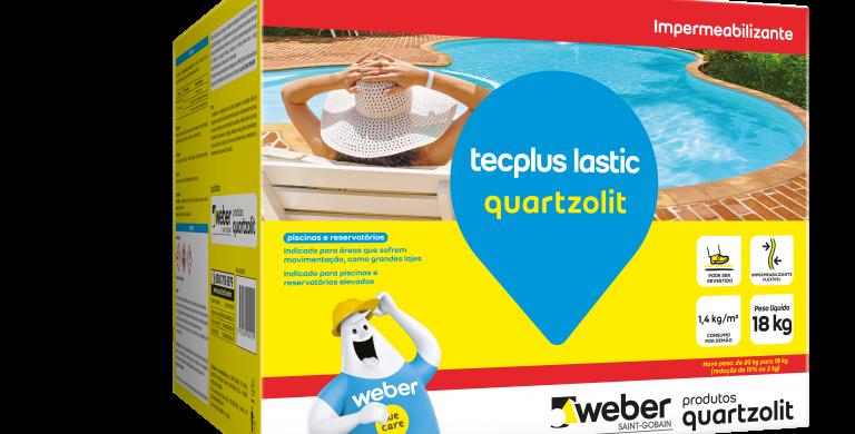 Tecplus Lastic Quartzolit - Caixa 18 kg