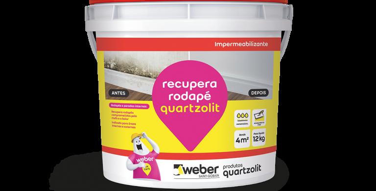 Recupera Rodapé Quartzolit - Balde 12 Kg