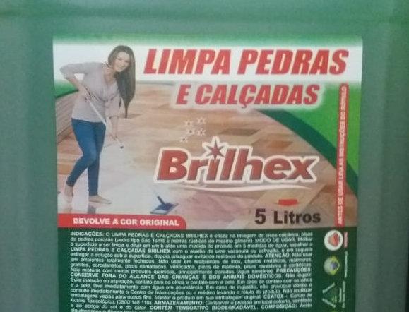 Limpa Pedras e Calçadas Brilhex - Galão 5 Litros