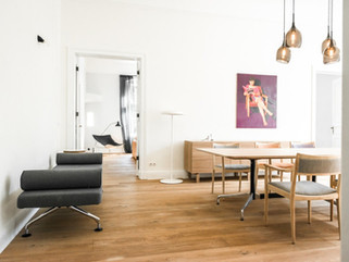 Современный дизайн интерьера дома коллекционера в Берлине