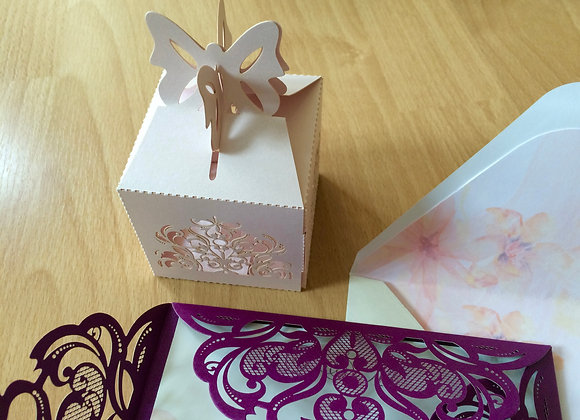 Butterfly Favour Box- Matching Pattern