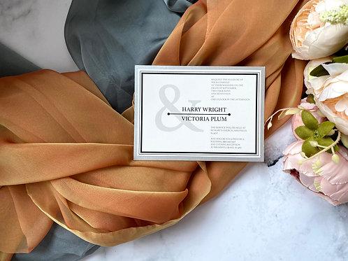 Modern typography monochrome wedding invitation
