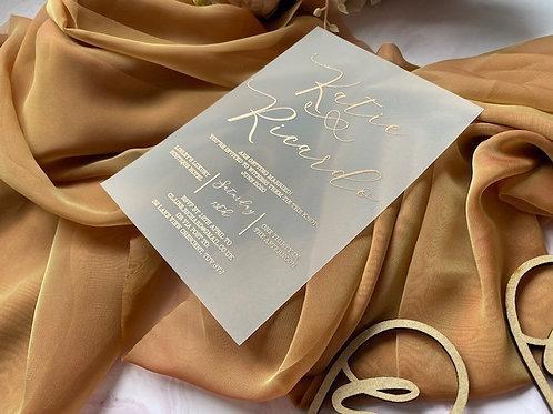 Foil Delight Vellum Wedding/Event Invite