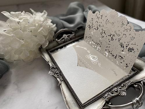 Glass slipper wedding invitation