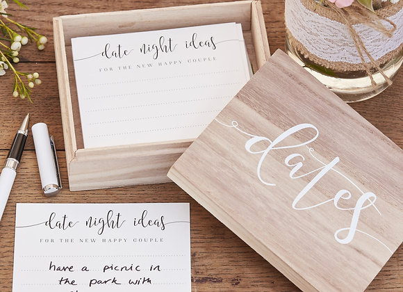 Date Suggestion Boxes- Wedding/Anniversary