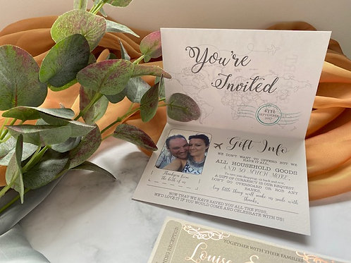 ALL Printed Guest Information Cards