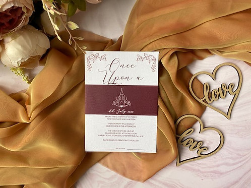 Once upon a time whimsical invitation