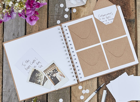 Rustic Envelope Wedding Guest Book