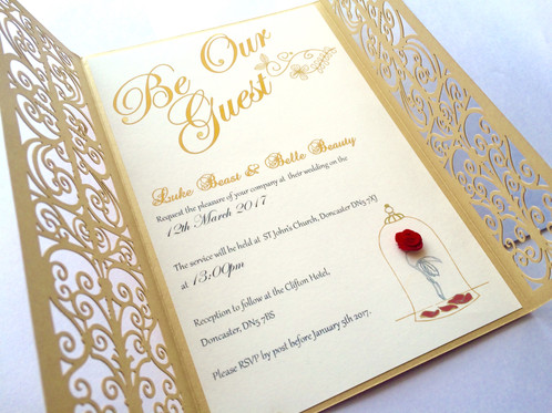 Be Our Guest My Little Future Wedding Invitations