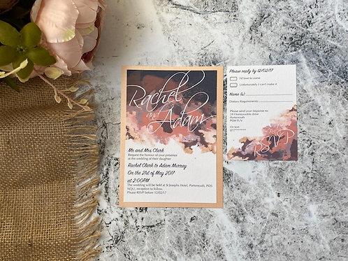 Watercolour magical wedding invitation
