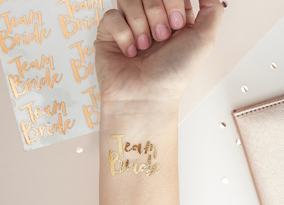 Team Bride- Rose Gold Tattoos