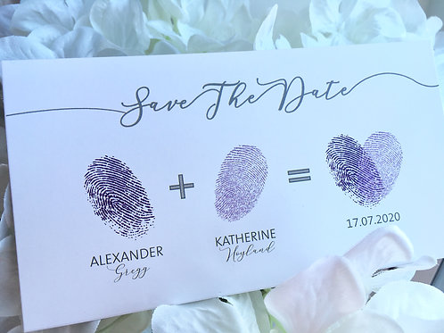 Loves finger print, magnetic save the date