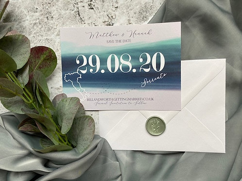 Nautical Wave Save The Date
