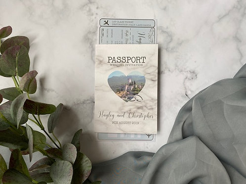 Pale Blue and silver Ticket and Passport