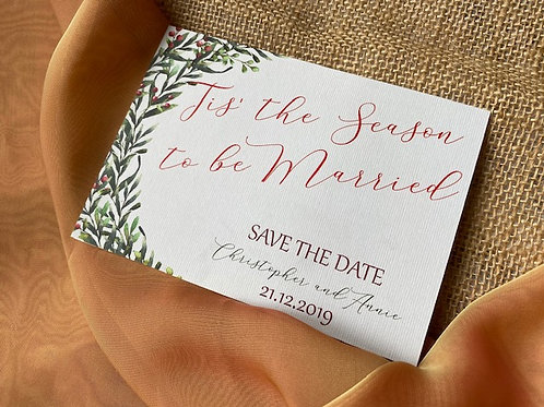 Christmas themed save the date