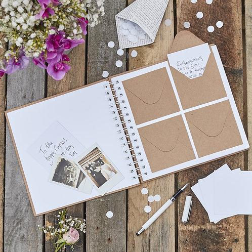 Rustic Envelope Wedding Guest Book