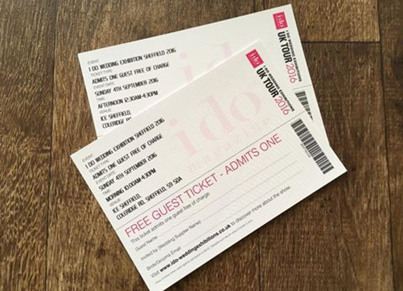 Ice Sheffield Wedding Exhibition Ticket
